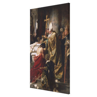 The Baptism of Vajk Canvas Print
