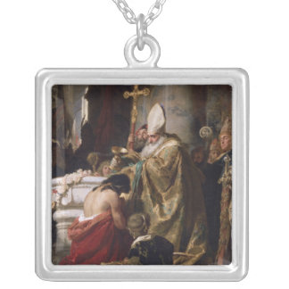 The Baptism of Vajk Silver Plated Necklace