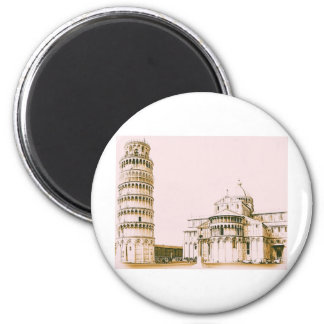 The Baptistery of St John - Leaning Tower Of Pisa Magnet