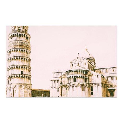 The Baptistery of St John - Leaning Tower Of Pisa Custom Stationery