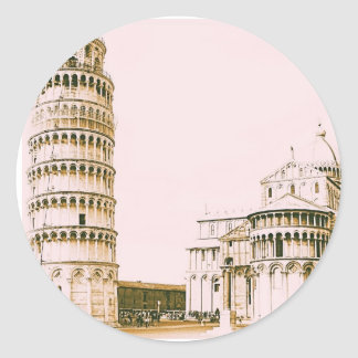 The Baptistery of St John - Leaning Tower Of Pisa Classic Round Sticker