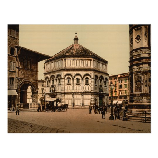 The Baptistry, Florence, Tuscany, Italy Postcard