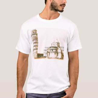 The Baptistry of St John and Leaning Tower Of Pisa T-Shirt