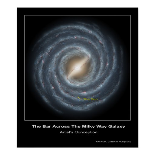 The Bar Across the Milky Way Galaxy - Artist's Con Posters