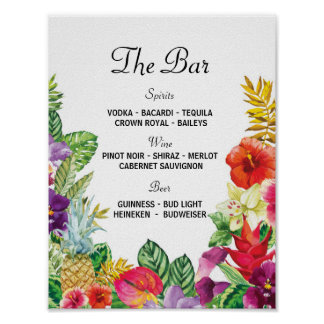The Bar Aloha Luau Event Sign Wedding Reception
