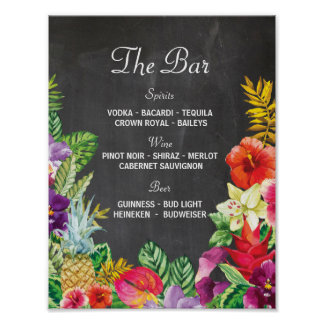 The Bar Aloha Luau Party Sign Wedding Reception