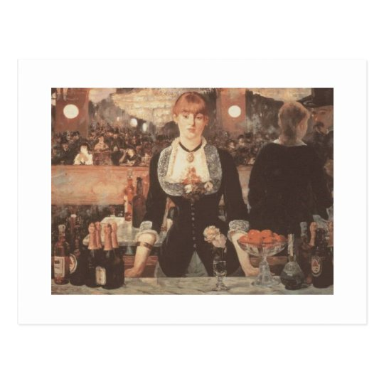 The Bar by Manet Postcard