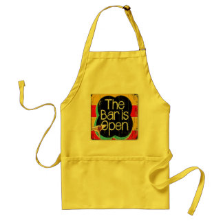 The bar is open adult apron