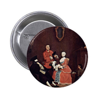 The Barber By Longhi Pietro (Best Quality) Pinback Button