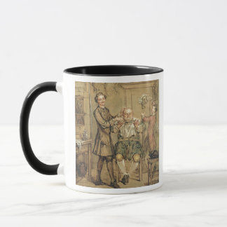 The Barber, c.1760-69 (oil on canvas) Mug