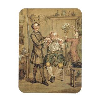 The Barber, c.1760-69 (oil on canvas) Rectangular Photo Magnet