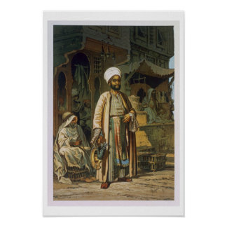 The Barber, from 'Souvenir of Cairo', 1862 (litho) Poster