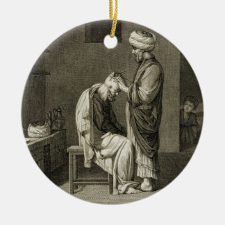 The Barber, from Volume II Arts and Trades of 'Des Christmas Tree Ornament
