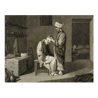 The Barber, from Volume II Arts and Trades of 'Des Postcard