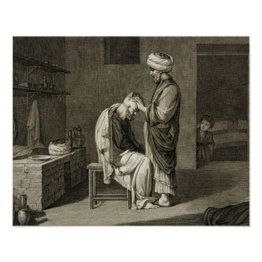 The Barber, from Volume II Arts and Trades of 'Des Poster