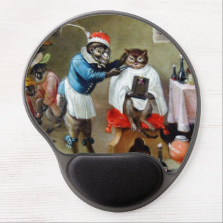 The Barber Monkey Gel Mouse Pad