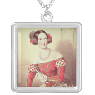 The Barber of Seville Square Pendant Necklace