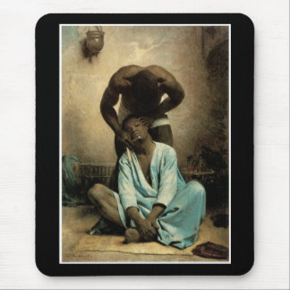 The Barber of Suez by Leon Bonnat, 1876. Mouse Pad