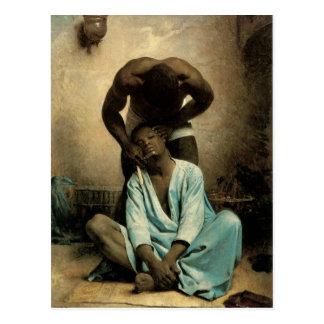 """The Barber of Suez"""" by Leon Bonnat, 1876. Postcard"""