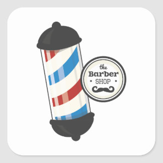 The Barber Shop Square Sticker