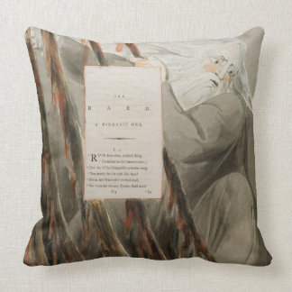 The Bard: A Pindaric Ode, from 'The Poems of Thoma Throw Pillow