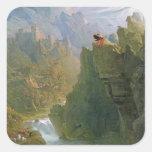 The Bard, c.1817 (oil on canvas) Square Sticker