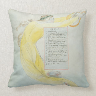 'The Bard', design 52 from 'The Poems of Thomas Gr Throw Pillow