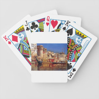 The Barge Of The Maharaja Of Benares by Edwin Lord Bicycle Playing Cards
