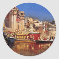 The Barge Of The Maharaja Of Benares by Edwin Lord