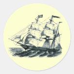 "The Bark ""Florida"" Sailing Ship Bookmark Stickers"