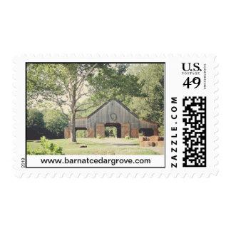 The Barn at Cedar Grove -  Med Postage stamp