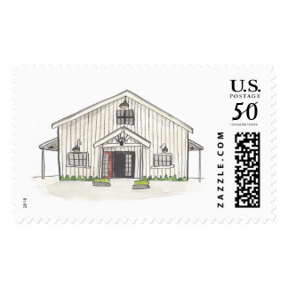 The Barn at Park Winters Watercolor Stamps