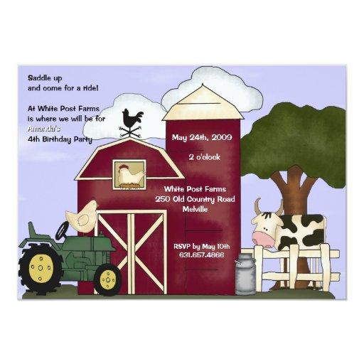 """The Barn Invitation 5"""" X 7"""" Invitation Card"""