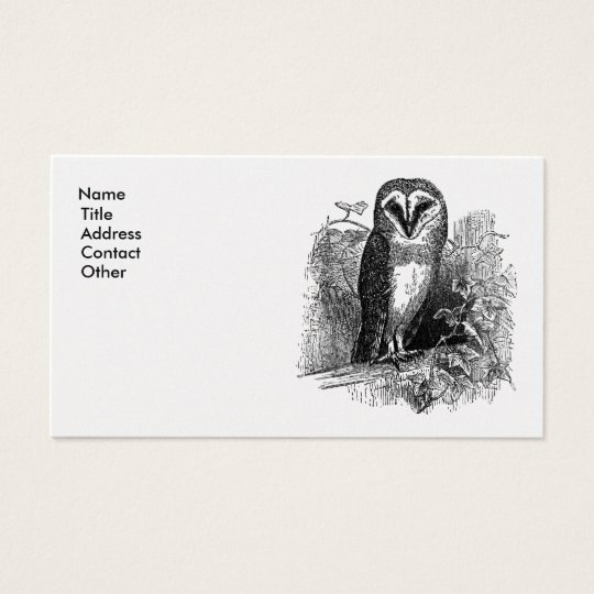 The Barn Owl Business Card