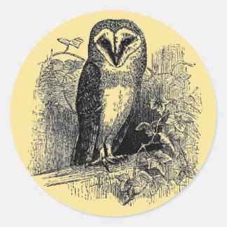 The Barn Owl Classic Round Sticker