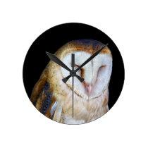 The Barn Owl Round Clock