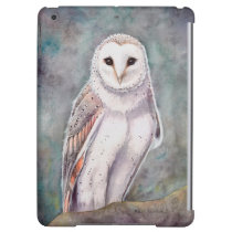 The Barn Owl Watercolor Wildlife Art iPad Air Cases