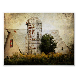 The Barn Quilt, Silo, and Sunflowers Posters