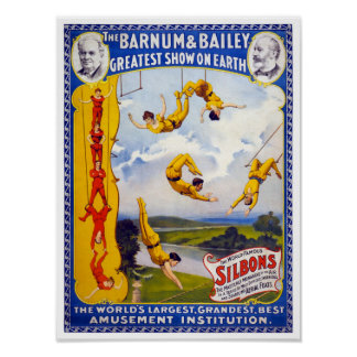The Barnum & Bailey 1896 Vintage Poster Restored