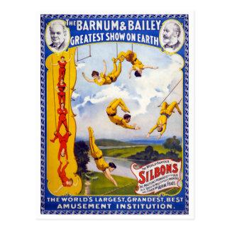 The Barnum & Bailey 1896 Vintage Poster Restored Postcard