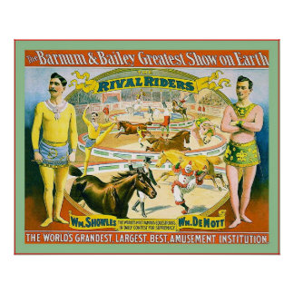 The Barnum & Bailey Greatest Show on Earth ~1895 Posters