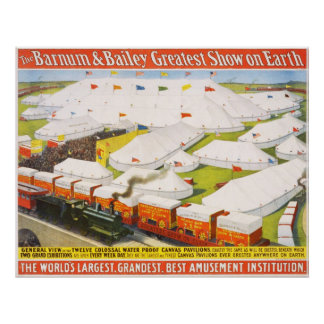 The Barnum & Bailey Greatest Show On Earth Poster