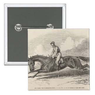 The Baron', the winner of the Great St. Leger 2 Inch Square Button