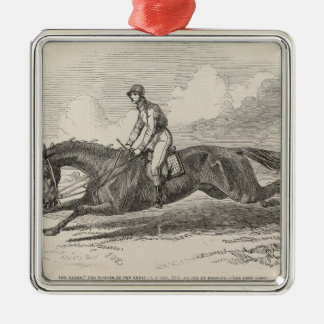 The Baron', the winner of the Great St. Leger Metal Ornament