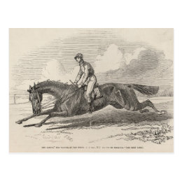 The Baron', the winner of the Great St. Leger Postcard