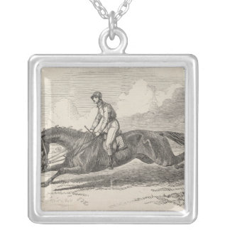 The Baron', the winner of the Great St. Leger Silver Plated Necklace