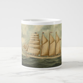 The barquentine Herdis of the American Star Line Extra Large Mugs