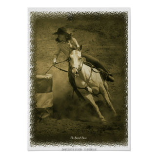 The Barrel Racer Poster