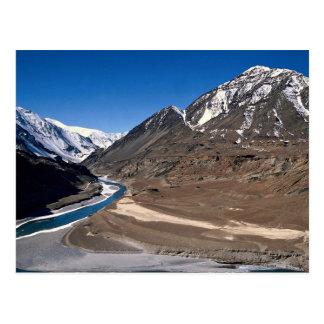 The barren landscape of Ladakh, northern India Postcard