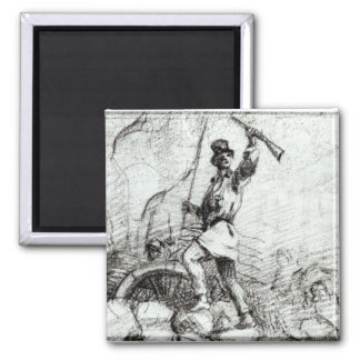 The Barricade 2 Inch Square Magnet